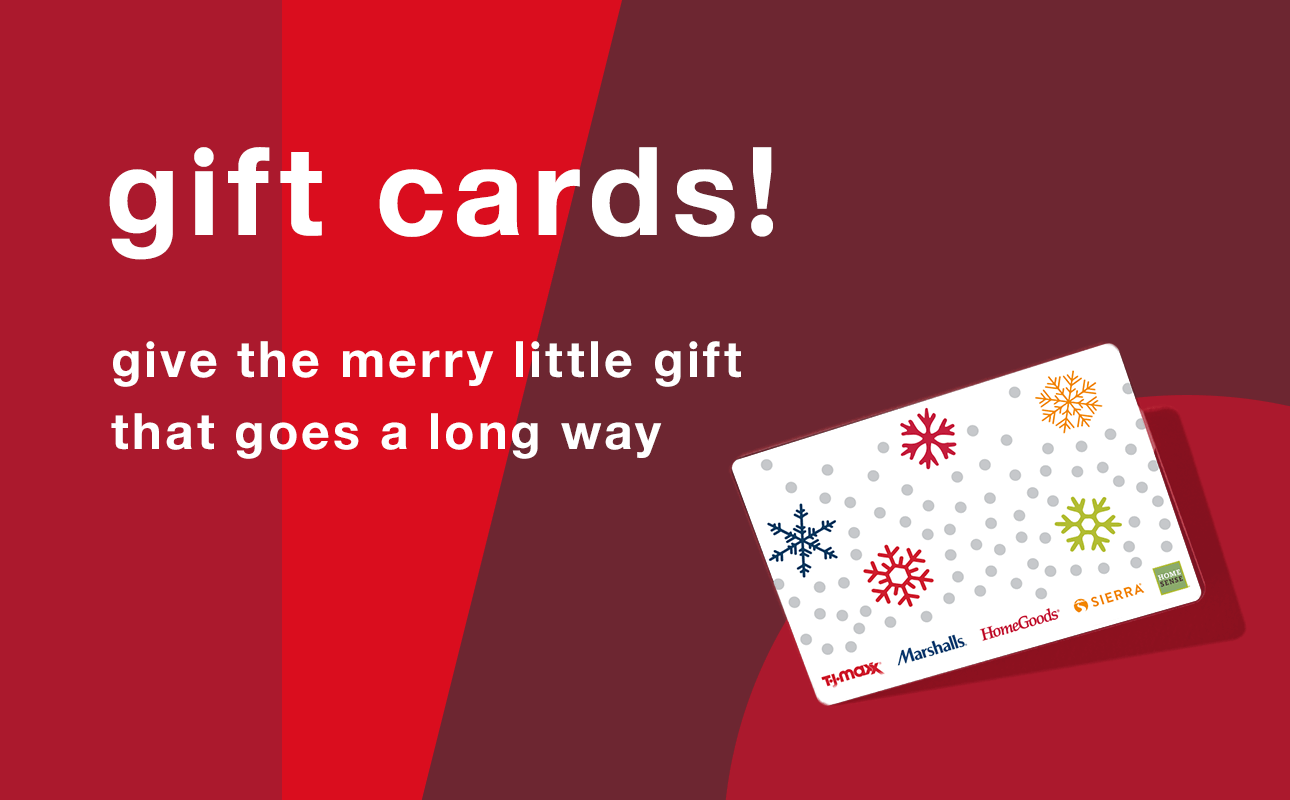 Gift Cards! Give the Merry Little Gift that Goes a Long Way