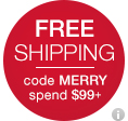 free shipping code MERRY spend $99